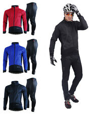 Mens Fleece Winter Cycling Clothes Bicycle Bike Long Sleeve Jersey Coat Thermal