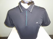 NEW MENS J. LINDEBERG KAYDEN SLIM WOW Jersey Golf Polo Shirt, BLACK, PICK A SIZE