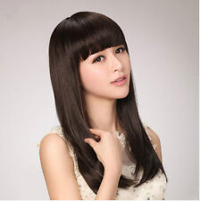New Long Straight Women Lady Girls Fashion Wig Synthetic Hair Anime Wigs+Wig Cap