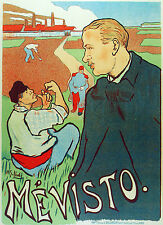 2043 Mevisto French wall Art Decoration POSTER.Graphics to decorate home office.