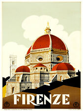 398.Travel Art Decoration POSTER.Graphics to decorate home office.Firenze-Roma