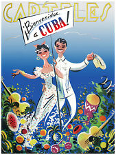 283.Art Decor POSTER.Graphics to decorate home office.Cuban Carteles Travel Art