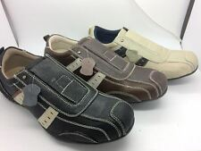 Mens Shoes SOA Mason Black Brown or Beige multi Size 7-12 Leather Casual Shoe