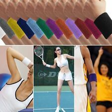 Terry Cloth Cotton Sweatband Sports Wrist Tennis Gymnastics Sweat WristBand Band