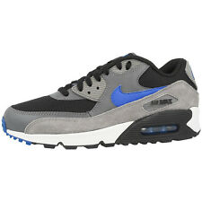 NIKE AIR MAX 90 ESSENTIAL SHOES TRAINERS 537384-034 GREY BLUE PREMIUM 97 95 1