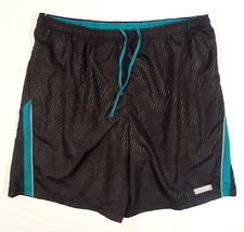 Hind Black & Teal Reflective Running Shorts Mens NWT