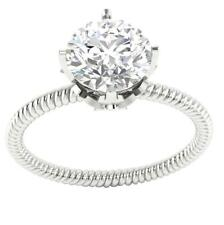 Prong Set I1/H 1.10Ct Round Cut Diamond Solitaire Engagement Ring Band 14Kt Gold