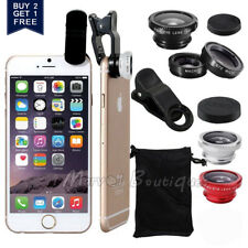 Wide Angle 180° Fish Eye Macro Clip Camera Lens Kit for iPhone 6S Mobile Phone