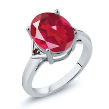 4.02 Ct Oval Last Dance Pink Mystic Quartz Red Garnet 925 Sterling Silver Ring