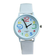 Fashion Color Digital Casual Woman Watches Silicone Quartz Analog Wrist Watches