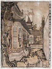 1403 Oriental Town wall Art Decoration POSTER.Graphics to decorate home office.