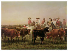 1390 Cow Trading. Wall Art Decoration POSTER.Graphics to decorate home office.