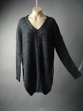Chunky Cable Knit V-Neck Cozy Casual Pullover Jumper Tunic Sweater 27xt Dress