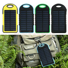5000/800016000mAh Portable Solar Charger Dual USB External Battery Power Bank