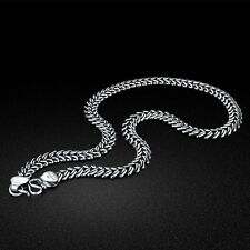 Genuine Solid Sterling Silver Thai Silver Snake Chain Necklace Men's SN476