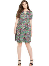 So Fabulous Jersey Swing Keyhole Dress