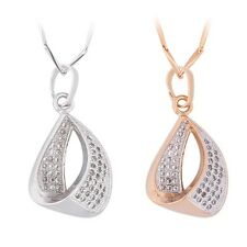 Bling bling latest woman  chain 18k gold filled white sapphire pendant necklace