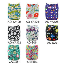 Alva AIO Reusable Perfect Printed Baby Cloth Diaper Nappy+ Sewn in insert U Pick