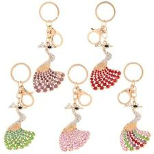 Peafowl Peacock Keychain Crystal Keyring Key Ring Chain Bag Charm Pendant 42ZD