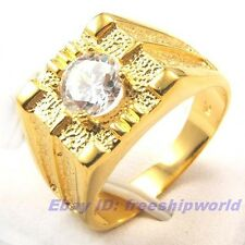 Size 8,9,10 Ring,REAL ARISTOCRATIC 18K YELLOW GOLD GP GEMSTONE SOLID FILL GEP