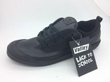 Mens Shoes Volley International Black Leather Lace Up School Shoe Size UK6-12