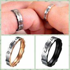 Wholesale Titanium Steel Couple Wedding Band Lover Engagement Promise Ring Best