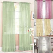 NEW Home Door Window Curtain Drape Panel Scarf Assorted Sheer Voile On Sale B15