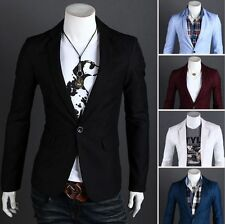Fashion Stylish Men's Casual Slim Fit One Button Suit Blazer Coat Jacket Tops