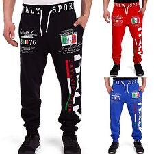 Men's Italia Joggers Italy Tracksuit bottoms Sports Pants Shorts Running new