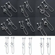 Fashion Women's Jewelry Shiny Silver Plated Crystal Drop Earrings For Gift New