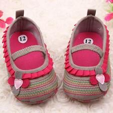 Fancy Girl Baby Flower Ruffled Shoes Toddler Soft Sole Crib Shoes Prewalkers J93