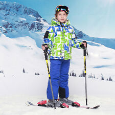 Children Kids Skiing Snowboard Thermal Cotton Ski Suit Coat Bib Pants Snowsuit