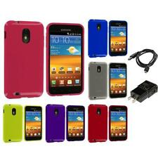 TPU Plain Skin Case for Samsung Sprint Galaxy S2 S II Epic Touch 4G Charger