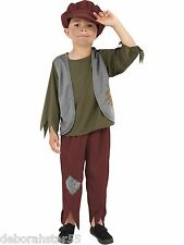 Boys Victorian Poor Urchin Boy  World Book Day Fancy Dress Costume 4-9 Smiffy's