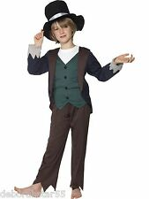 Boys Victorian Poor Urchin Boy World Book Day Fancy Dress Costume 4-12 Smiffy's