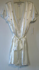 Morgan Taylor Ivory Satin Bridal Chemise Gowns Nightgown Robe Womens S M L XL