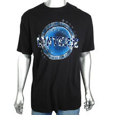 Mens Converse Black Graphic Print Indie T-Shirt Tee Top Retro Party Size M-XXL