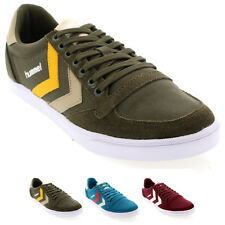 Womens Hummel Slimmer Stadil Low Canvas Laced Retro Low Top Sneakers US 4.5-8.5