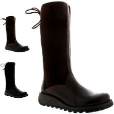 Womens Fly London Sato Rug Snow Winter Mid Calf Warm Fur Lined Boots US 5-12