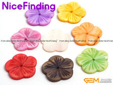 30mm Flower Colorful MOP Shell Dyed Craft BeadS Jewelry Making Design 6 PCS DIY