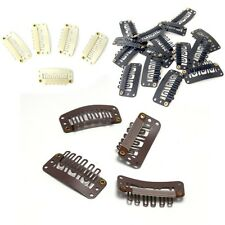 Blonde Brown Black U Shaped Snap Clips 32mm for Hair Extensions 50 / 100 Pcs