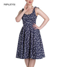 Hell Bunny Rockabilly MARIN 50s Dress Nautical Sailor   Navy Blue All Sizes