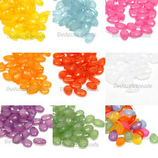 100 Little 9mm Plastic Acrylic Faceted Teardrop Shaped Tear Drop Bead Charms