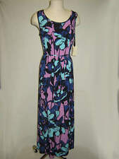 NWT Sunset Rd. Blue Floral Maxi Dress Ladies size Large & Xlarge Retail $59