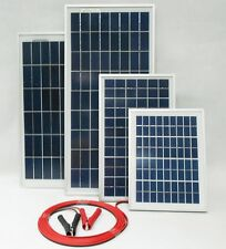15w 20w 25w Solar Panel for 12v battery w 4m cable Block Diode & Alligator Clips