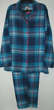 Joe Boxer Womens Size XS Blue Flannel Winter Pajamas Sleepwear Sets Pjs