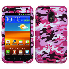 Pink Flower Camo/Hot Pink case SAMSUNG R760 Galaxy S II D710 Epic 4G Touch 4G