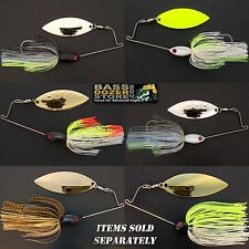 Bassdozer Spinnerbaits. SHORT ARM WILLOW blade spinner bait bass fishing lures
