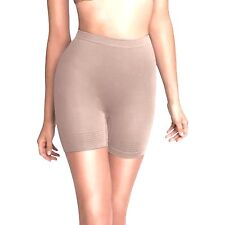 New FLEXEES Maidenform Smoothing Lite Control Seamless Shorty 83029 Nude L/7