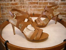 Marc Fisher Vachella Brown Leather Strappy Sandals NEW